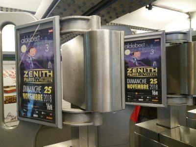 Affichage métro : porte anti-fraude