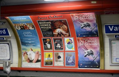 Affichage métro : quai Paris Culture