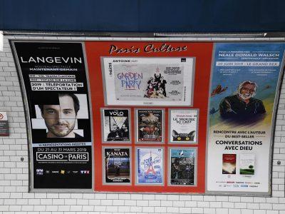 Affichage métro : quai Paris Culture