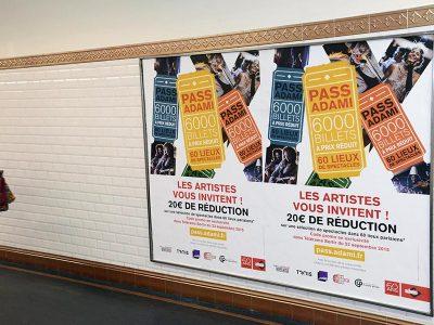 Affichage métro : couloirs