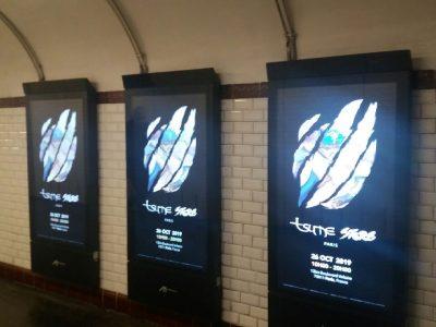 Affichage métro : couloirs digital